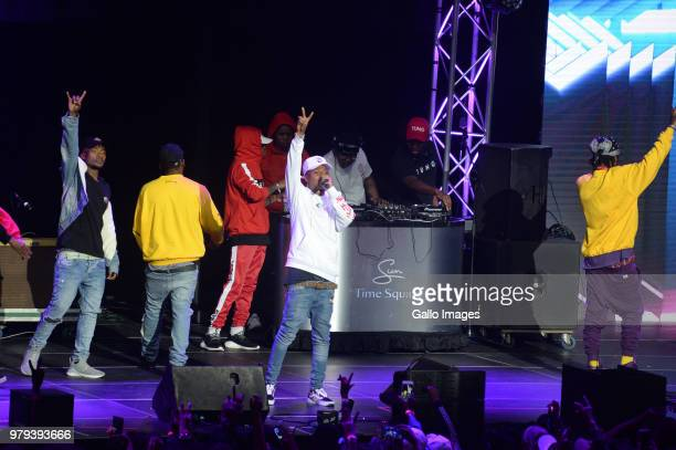 Rapper AReece and his label mates The Wrecking Crew 's performance during the June 16 Youth Day Celebration concert at Time Square Sun Arena on June...