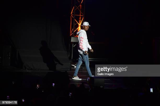 Rapper AReece performs during the June 16 Youth Day Celebration concert at Time Square Sun Arena on June 16 2018 in Pretoria South Africa The concert...