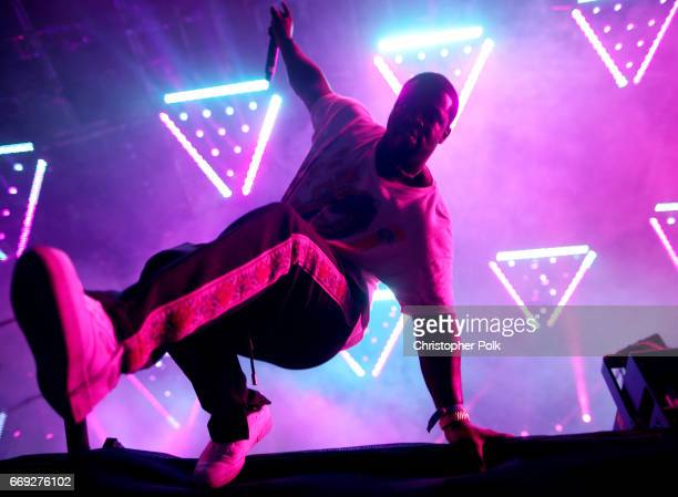 Rapper ASAP Ferg performs on the Sahara stage during day 3 of the Coachella Valley Music And Arts Festival at the Empire Polo Club on April 16 2017...