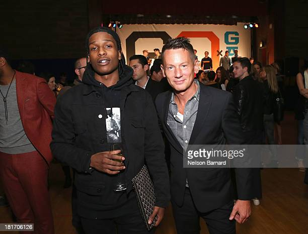 Rapper ASAP Rocky and GQ editor in chief Jim Nelson attend the GQ Gap event to celebrate 2013 Best New Menswear Designers Collaboration on September...