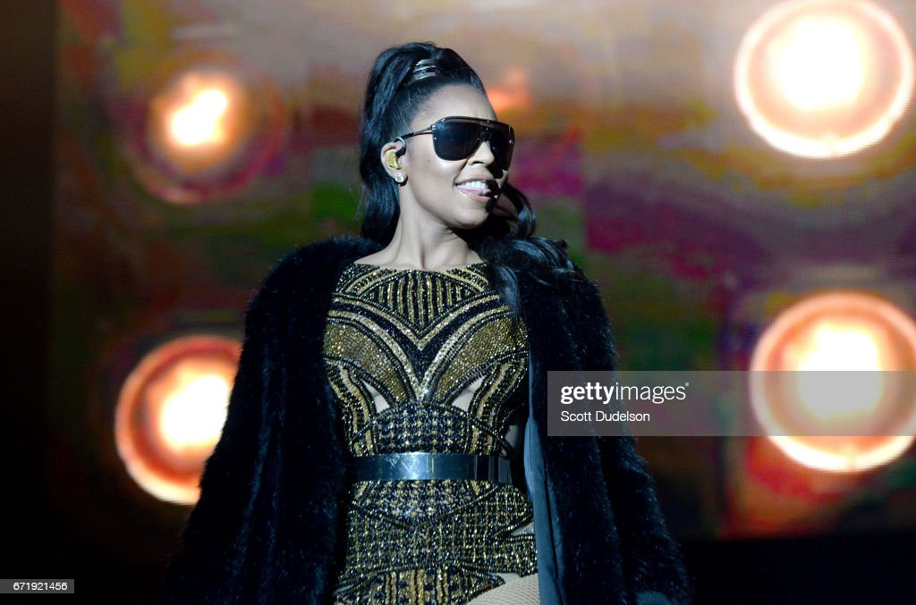 Rapper Ashanti performs onstage during the 93.5 KDAY Krush Groove 2017 concert at The Forum on April 22, 2017 in Inglewood, California.