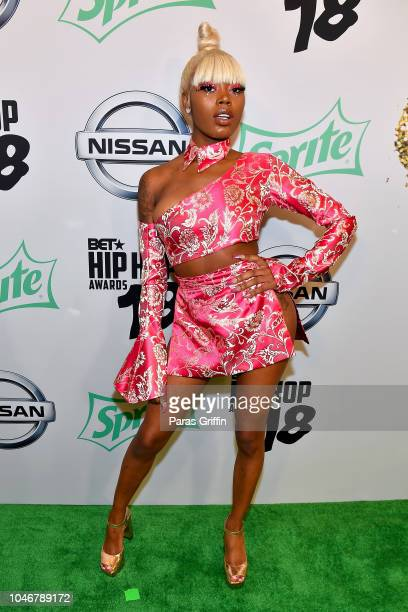 Rapper Asian Doll arrives at the BET Hip Hop Awards 2018 at Fillmore Miami Beach on October 6 2018 in Miami Beach Florida