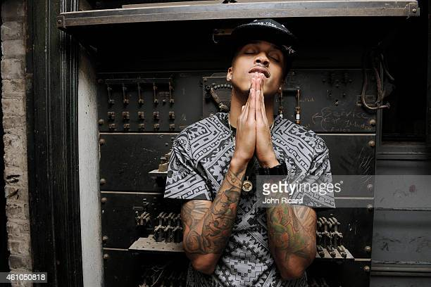 Rapper August Alsina is photographed for Urban Ink on October 29 2013 in New York City