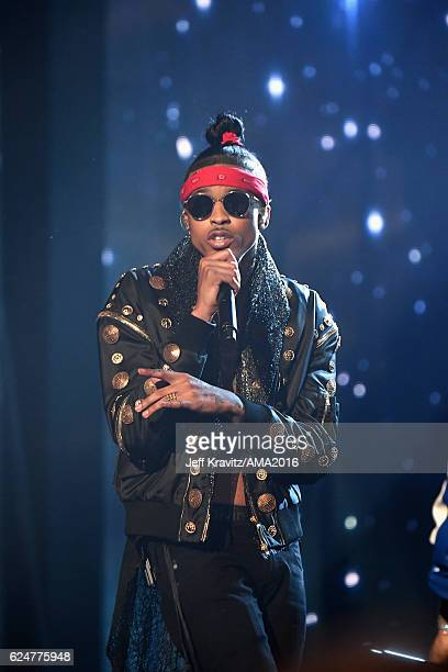 Rapper August Alsina performs onstage at the 2016 American Music Awards at Microsoft Theater on November 20 2016 in Los Angeles California