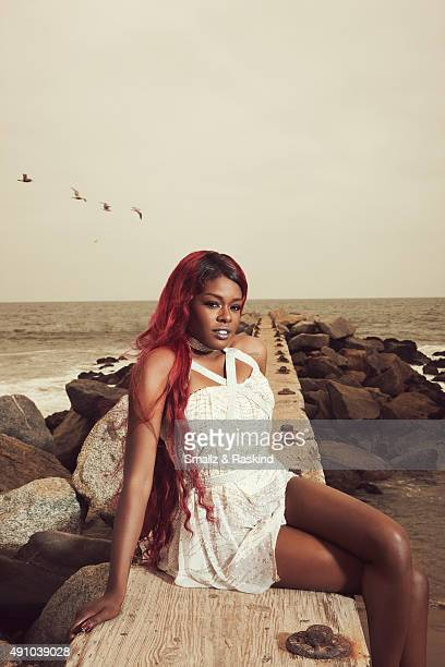 Rapper Azealia Banks are photographed for Vibe Magazine on April 30 2012 in Los Angeles California