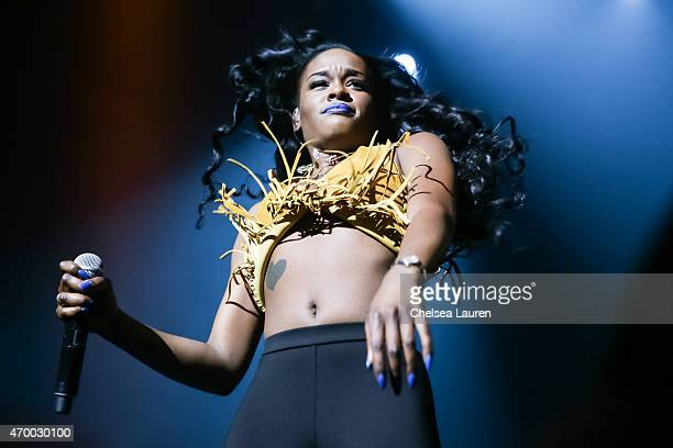 Rapper Azealia Banks performs at Club Nokia on April 16 2015 in Los Angeles California