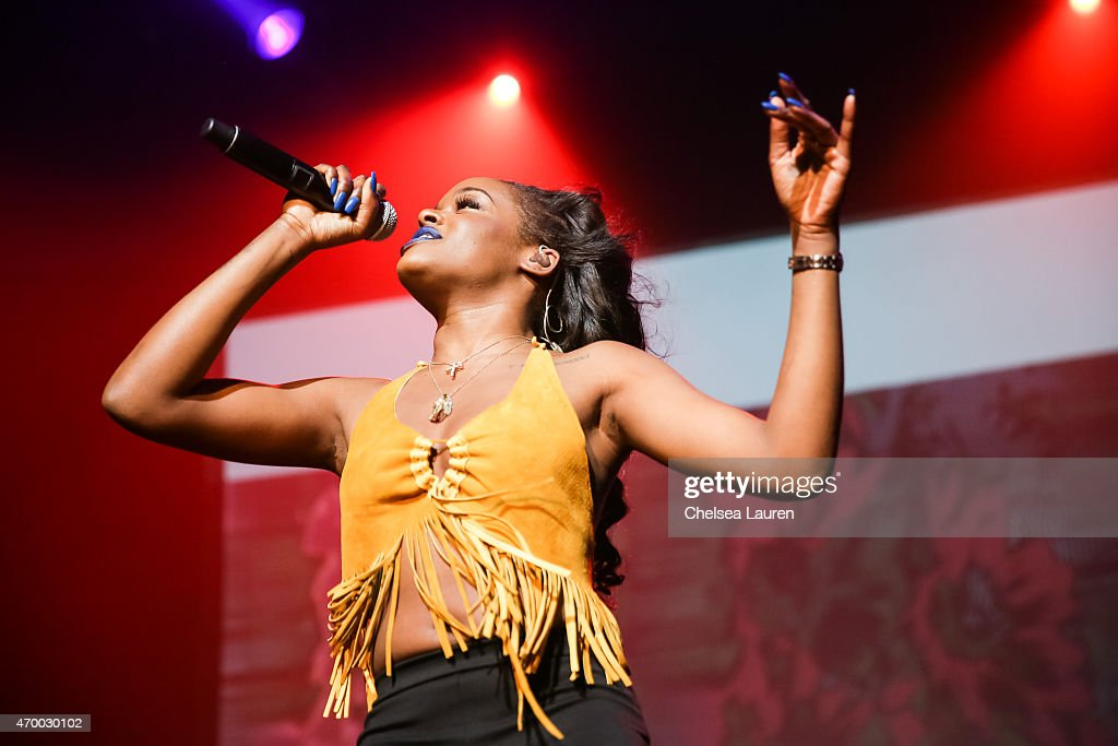 Rapper Azealia Banks performs at Club Nokia on April 16, 2015 in Los Angeles, California.