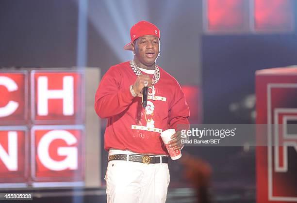 Rapper Baby performs onstage during the BET Hip Hop Awards 2014 at Boisfeuillet Jones Atlanta Civic Center on September 20, 2014 in Atlanta, Georgia.