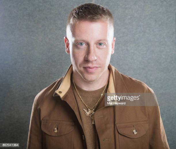 Rapper Ben Haggerty aka Macklemore poses for a portrait in studio at Hot 1037 the day his new album 'Gemini' is released on September 22 2017 in...