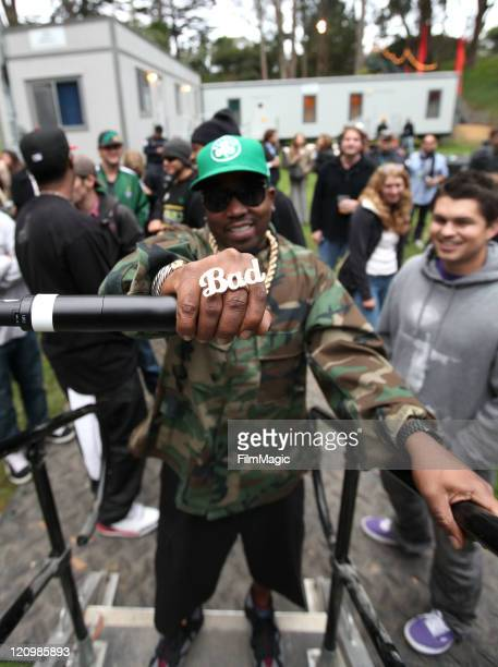 Rapper Big Boi backstage at the Sutro Stage during the 2011 Outside Lands Music and Arts Festival held at Golden Gate Park on August 12 2011 in San...
