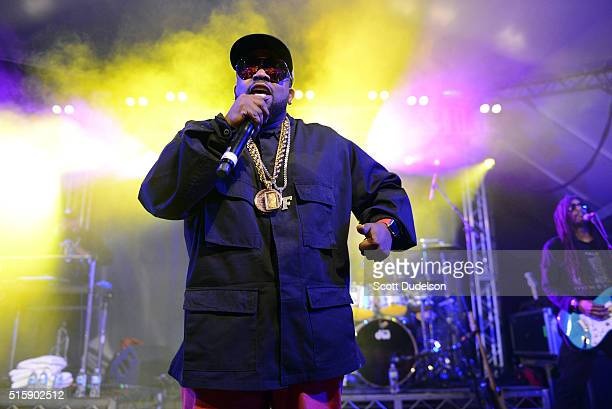 Rapper Big Boi of Outkast and Big Grams performs onstage during the SXSWi Media Temple closing party on March 15 2016 in Austin Texas