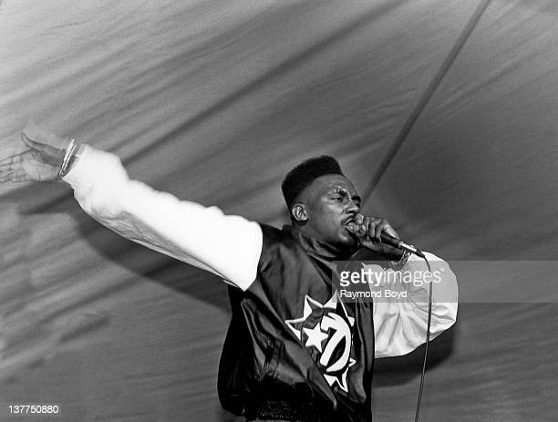 Rapper Big Daddy Kane performs at Mosque Maryam in Chicago Illinois in 1988