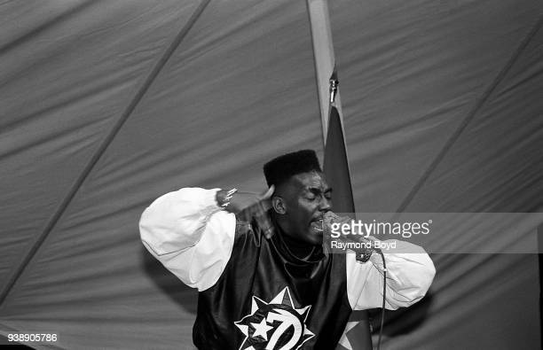 Rapper Big Daddy Kane performs at Mosque Maryam in Chicago, Illinois in February 1989.
