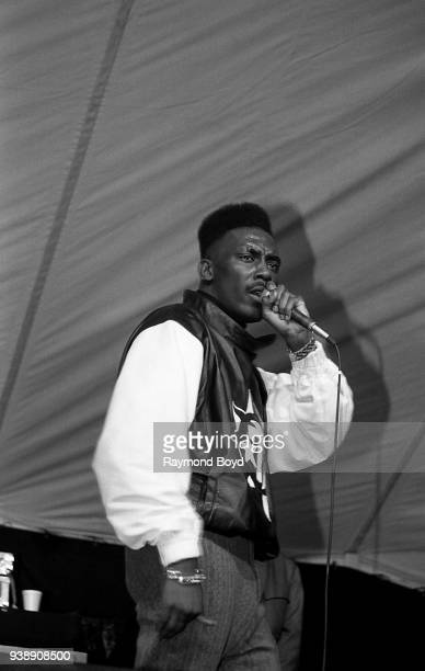 Rapper Big Daddy Kane performs at Mosque Maryam in Chicago Illinois in February 1989