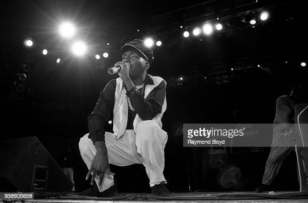 Rapper Big Daddy Kane performs at the UIC Pavilion in Chicago Illinois in November 1989