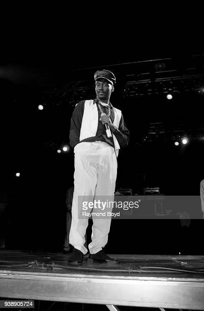 Rapper Big Daddy Kane performs at the U.I.C. Pavilion in Chicago, Illinois in November 1989.