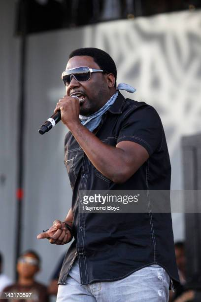 Rapper Big Daddy Kane performs during the Woodstars Charity Concert in Maywood, Illinois on JULY 29, 2011.