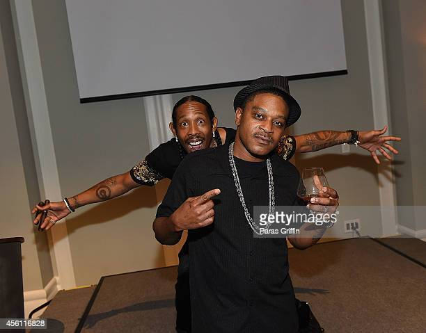 Rapper Big Gipp and rapper TMo of Goodie Mob attend the ASCAP Rhythm And Soul 3rd Annual Atlanta Legends Dinner Honoring Antonio LA Reid at Mandarin...