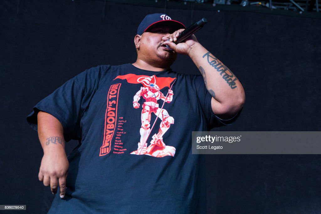 Rapper Big Lenbo performs in support of the Everybody's Tour at Meadow Brook Music Festival on August 20, 2017 in Rochester, Michigan.