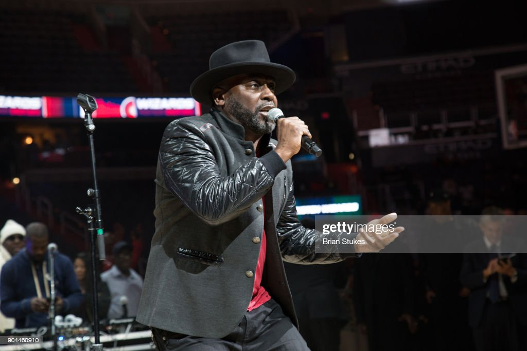 Rapper Big Rick performs live for Washington Wizard Concert Series - Hip Hop Night at Capital One Arena on January 12, 2018 in Washington, DC.