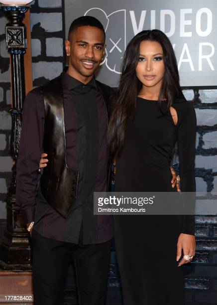Rapper Big Sean and actress Naya Rivera attend the 2013 MTV Video Music Awards at the Barclays Center on August 25, 2013 in the Brooklyn borough of...