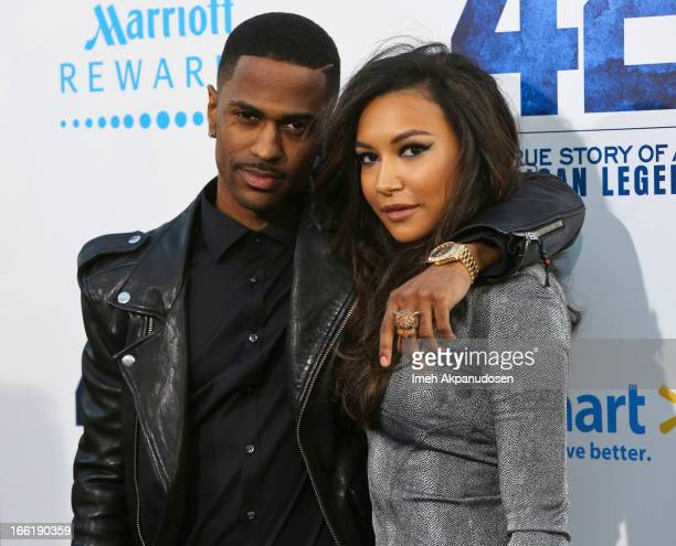 Rapper Big Sean and actress Naya Rivera attend the premiere of Warner Bros Pictures' And Legendary Pictures' '42' at TCL Chinese Theatre on April 9...