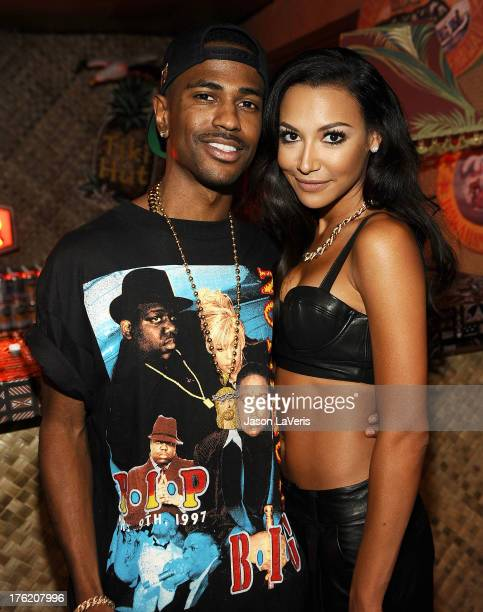 Rapper Big Sean and actress Naya Rivera pose in the green room at the 2013 Teen Choice Awards at Gibson Amphitheatre on August 11, 2013 in Universal...