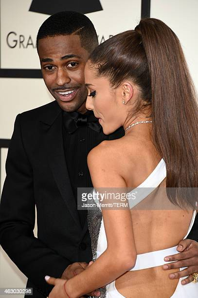 Rapper Big Sean and singer Ariana Grande attend The 57th Annual GRAMMY Awards at the STAPLES Center on February 8 2015 in Los Angeles California