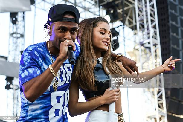 Rapper Big Sean and singer Ariana Grande perform at 1027 KIIS FM's Wango Tango at StubHub Center on May 10 2014 in Los Angeles California