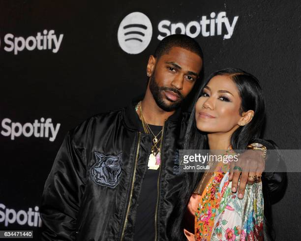 Rapper Big Sean and singer Jhene Aiko attend the Spotify Best New Artist Nominees celebration at Belasco Theatre on 9, 2017 in Los Angeles,...