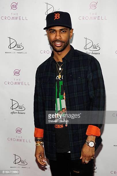 Rapper Big Sean arrives at Drai's Beach Club Nightclub at The Cromwell Las Vegas to celebrate his birthday on March 19 2016 in Las Vegas Nevada
