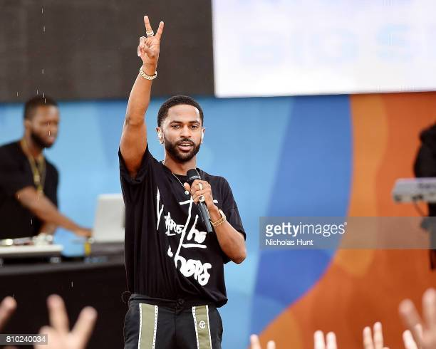 "Rapper Big Sean Performs On ABC's ""Good Morning America"" at Rumsey Playfield on July 7, 2017 in New York City."