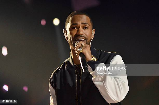 Rapper Big Sean performs onstage at WE Day California 2016 at The Forum on April 7, 2016 in Inglewood, California.