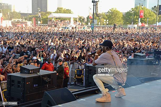 Rapper Big Sean performs onstage during the 2015 Budweiser Made in America Festival at Benjamin Franklin Parkway on September 6, 2015 in...