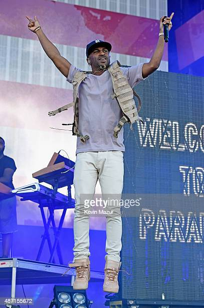 Rapper Big Sean performs onstage during the 2015 Budweiser Made in America Festival at Benjamin Franklin Parkway on September 6 2015 in Philadelphia...