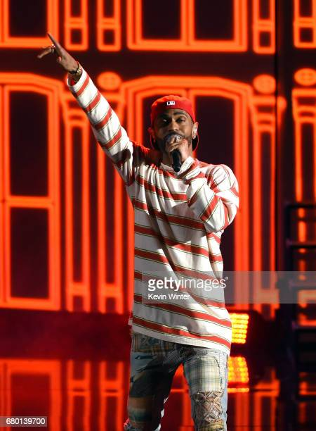 Rapper Big Sean performs onstage during the 2017 MTV Movie And TV Awards at The Shrine Auditorium on May 7 2017 in Los Angeles California
