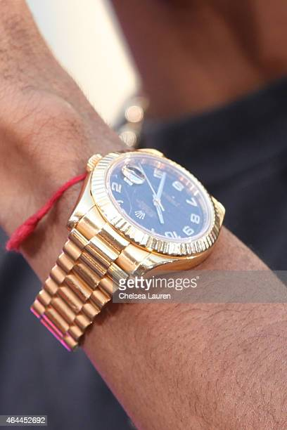 Rapper Big Sean watch detail attends his concert hosted by Revolt TV to celebrate his new album 'Dark Sky Paradise' at Hollywood Highland Courtyard...