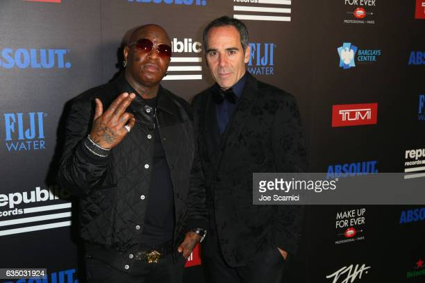 Rapper Birdman and CEO of Republic Records Monte Lipman at a celebration of music with Republic Records cosponsored by FIJI Water at Catch LA on...