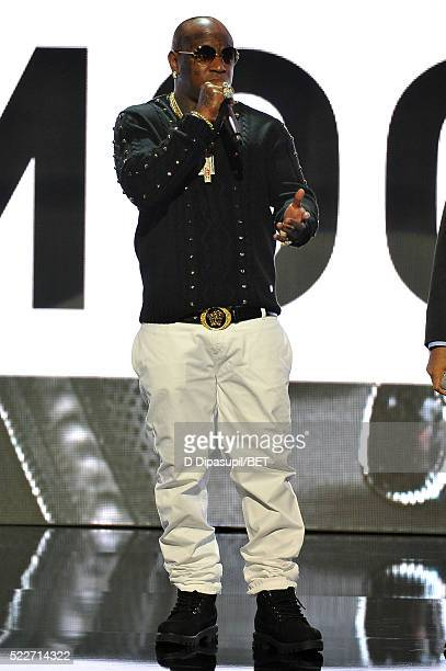 Rapper Birdman speaks onstage during BET Networks 2016 Upfront at Rose Hall at Jazz at Lincoln Center on April 20 2016 in New York City