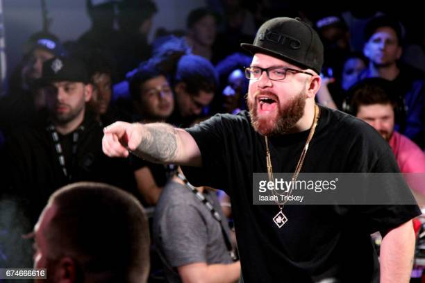 Rapper Bishop Brigante attends KOTD Blackout 7 rap battle at Capitol Event Theatre on April 15 2017 in Toronto Canada