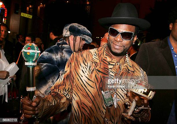 Rapper Bishop Magic Don Juan arrives at the Premiere Of Get Rich Or Die Tryin' at Grauman's Chinese Theater on November 2 2005 in Hollywood California