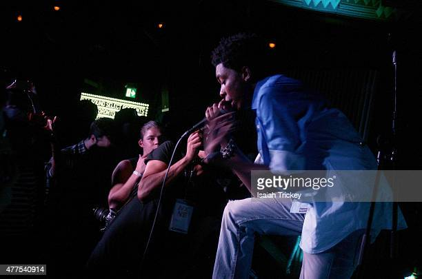 Rapper Bishop Nehru performs as part of NXNE Wednesday Presented by Red Bull Sound Select at Adelaide Hall on June 17 2015 in Toronto Canada