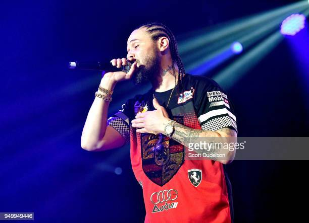 Rapper Bizzy Bone of Bone Thugsn Harmony performs onstage during the KDay 935 Krush Groove concert at The Forum on April 21 2018 in Inglewood...