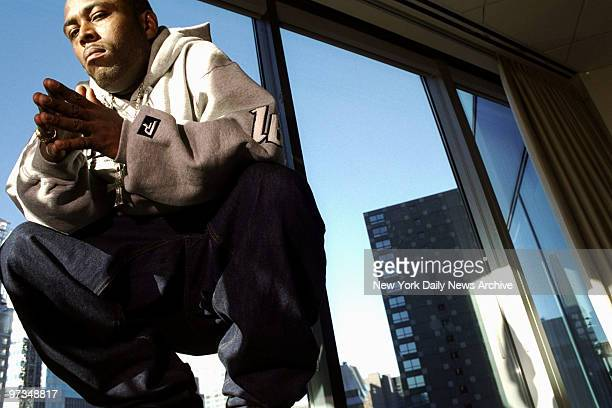 Rapper Black Rob at the offices of Bad Boy Records in Manhattan.,