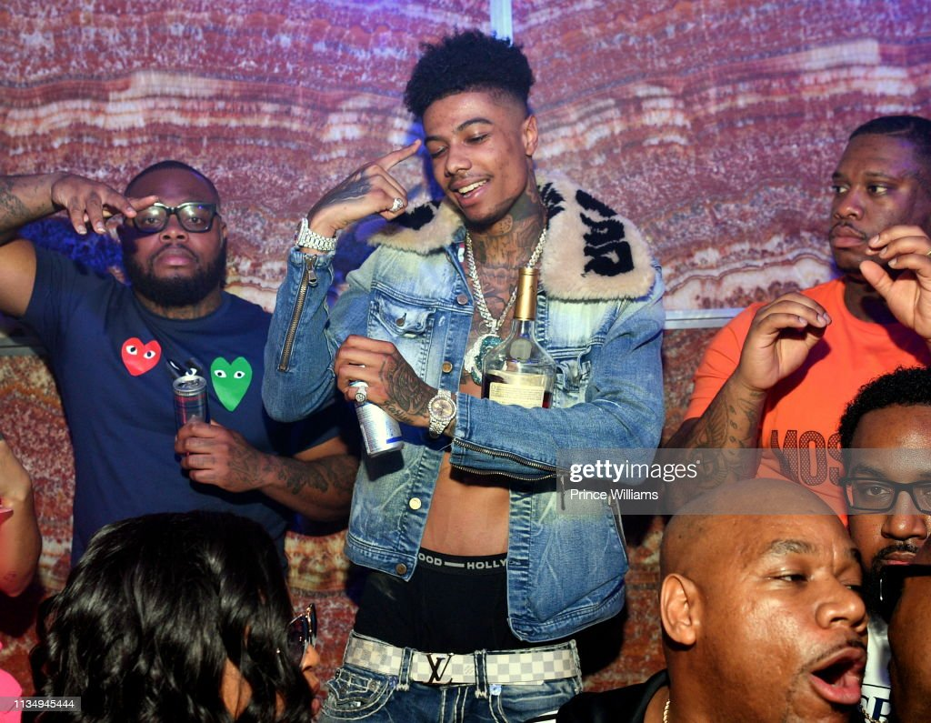 Rapper Blueface Hosts a Party at Tiger Tiger on March 10