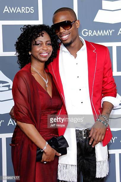 Rapper BoB and guest arrive at The 53rd Annual GRAMMY Awards held at Staples Center on February 13 2011 in Los Angeles California