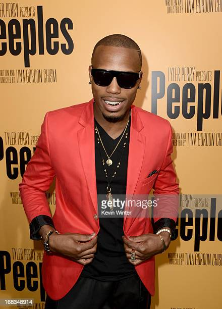 Rapper BOB arrives at the premiere of 'Peeples' presented by Lionsgate Film and Tyler Perry at ArcLight Hollywood on May 8 2013 in Hollywood...