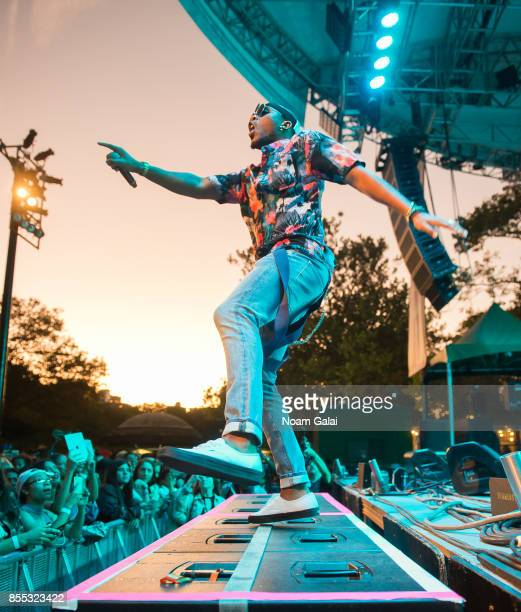 Rapper BoB performs during Capital One Concert Takeover featuring DNCE BOB QuestLove and DJ Moma at Central Park SummerStage on September 28 2017 in...