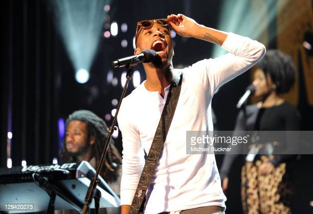 Rapper BoB performs onstage during rehearsals for GRAMMY Nominations Concert Live at Club Nokia on December 1 2010 in Los Angeles California