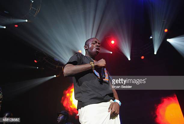 Rapper Bobby Shmurda performs on stage at Power 1051's Powerhouse 2014 at Barclays Center of Brooklyn on October 30 2014 in New York City